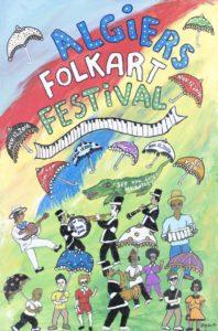 algiers folk art fest poster